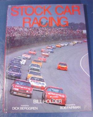 Stock Car Racing book Bill Holder automoile history tracks cars auto race 1990 NASCAR many photos