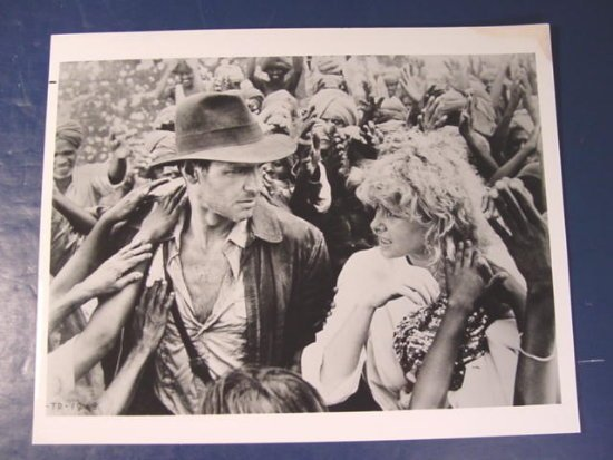 Harrison Ford Kate Capshaw TD-1808 Temple of Doom Indiana Jones photograph black white photo 1908s