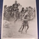Indiana Jones Harrison Ford TD-545 Temple of Doom Kate Capshaw native kids black white photo 8 x 10