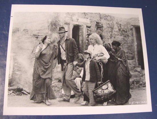 Harrison Ford Indiana Jones Kate Capshaw IJ-TD-1655 Temple of Doom photo black white 8 x 10 1980s
