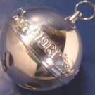 1981 Wallace Silversmiths silverplate horse sleigh bell silver Christmas ornament 11th annual