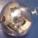 1982 Wallace Silversmiths sleigh bell Christmas skates silver ornament 12th annual silverplate