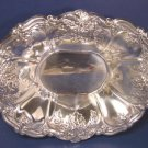 One St. Regis by Wallace silverplate Bon Bon candy bowl # 9720 silver hollowware 8 inch oval dish