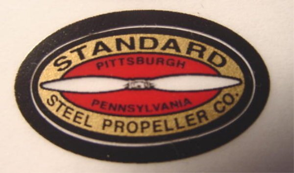 Remote Control Model Airplane RC vintage decal Standard Steel Propeller Co. aviation 6 decals