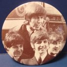 Beatles group photo vintage pinback button pin 2 1/4 inch John Paul George Ringo 1970s 1980s