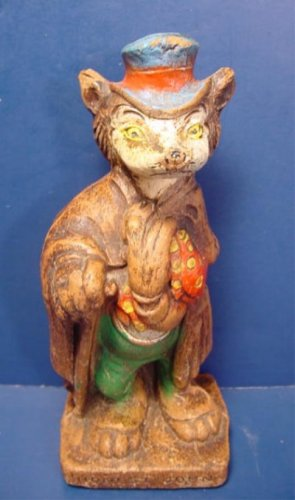 Walt Disney Productions Honest John fox figure 1940 Pinocchio J. Worthington Foulfellow syrocco