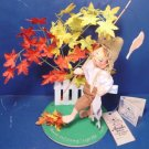 Annalee Doll Society Logo vintage 1995 kid goin fishin Huck Finn boy fishing pole felt Mobilitee