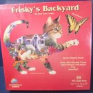 Frisky's backyard cat shape jigsaw and butterfly puzzle Mary Ann Lasher 800 piece box not opened