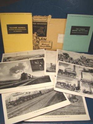1944 Railroad WWII Study of Railway Transportation teacher's book manual American train 56 photos