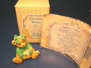 Cherished Teddies Kathleen Luck Found Me a Friend in You Irish bear figurine 1993 Enesco 916447