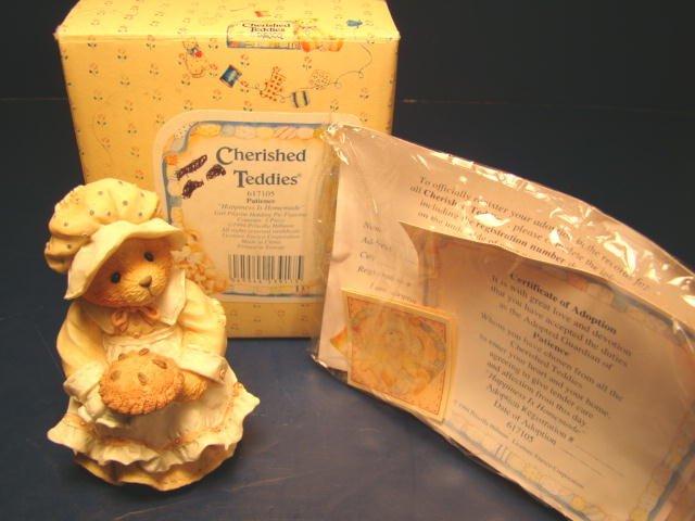 Cherished Teddies Patience  617105  Happiness is Homemade  Pilgrim /& Pie