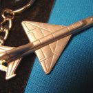 Pewter MIG-21 Russian jet fighter keychain military airplane aircraft aviation Sparta key ring