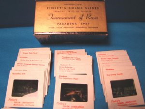 1957 Tournament of Roses slides Pasadena Finleys color parade floats 72 Famous Firsts in Flowers