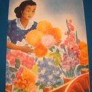 June 1951 ship dinner menu flower cart SS Uruguay Moore-McCormack Lines ocean liner cruise Trinidad