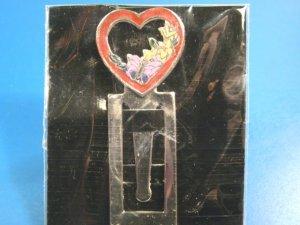 Butterfly heart bookmark red enamel open heart flowers silvertone metal book page clip bookmarker