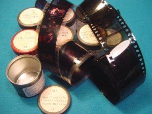 Salk Vaccine Antibiotics Filmstrip 35mm 7 rolls school education celluloid projector film 50s movies