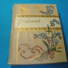 Antique Forget-me-not book scripture 1900s lithograph flowers Bible verse printed Germany