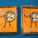 Reddy Kilowatt matchbook cover feature artwork Lion 2 match books Ks. Power 1937 Ashton B. Collins