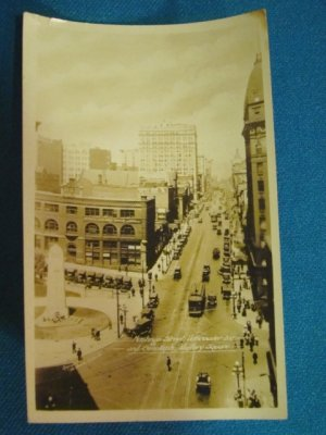 Hastings Street Cenotaph Victory Square Vancouver B.C. Canada RPPC real photo postcard Gowen Sutton
