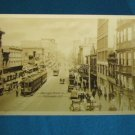 RPPC Hastings Street E streetcar auto Vancouver B.C. Canada real photo postcard Gowen Sutton 1930s