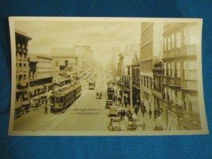 RPPC Hastings Street E streetcar auto Vancouver B.C. Canada real photo postcard Gowen Sutton 1930s