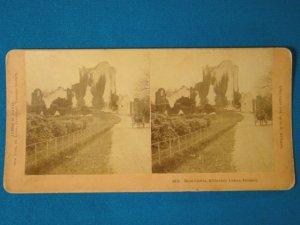 Ross Castle Killarney Lake Ireland stereograph stereoview stereoscope card BW Kilburn antique 1891