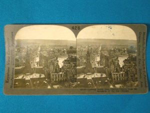 WWI Chateau-Thierry France stereoview stereograph stereoscope card Keystone View antique 426-18716
