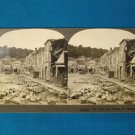 Place Des  Halles St. Mihiel Market Square stereoview stereoscope card Keystone WWI antique 1918