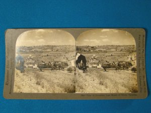 Jerusalem Mount of Olives Palestine stereoview stereograph stereoscope card Keystone antique 1906