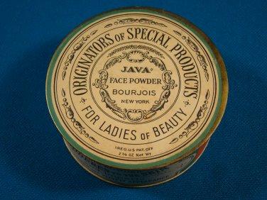 Java Naturelle face powder Bourjois for ladies of beauty 1920s vintage makeup full box