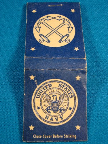 United States Navy matchbook cover eagle, crossed anchors vintage empty Universal Match Corp.