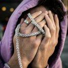 White Gold Diamond Franco Chain