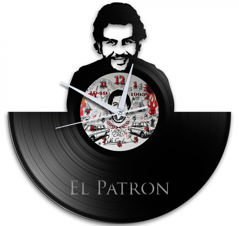 Pablo Escobar Narcos 12 Inch Black Vinyl Wall Clock Retro