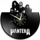 Pantera 12-Inch Black Vinyl Wall Clock Retro Unique Music Art Gift