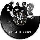 Sytem Of A Down 12-Inch Black Vinyl Wall Clock Retro Unique Music Art Gift