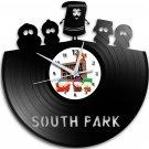 South Park 12-Inch Black Vinyl Wall Clock Retro Unique Music Art Gift