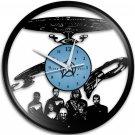 Star Trek 12-Inch Black Vinyl Wall Clock Retro Unique Music Art Gift