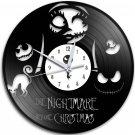 The Nightmare Before Christmas 12-Inch Black Vinyl Wall Clock Retro Unique Music Art Gift