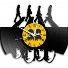 The Beatles 12-Inch Black Vinyl Wall Clock Retro Unique Music Art Gift