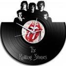 The Rolling Stones 12-Inch Black Vinyl Wall Clock Retro Unique Music Art Gift