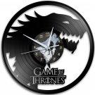 Game Of Thrones 12-Inch Black Vinyl Wall Clock Retro Unique Music Art Gift