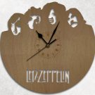 Led Zeppelin Wood Wall Clock Retro Unique Art Gift