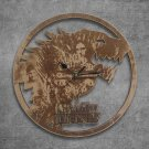 Game Of Thrones Wood Wall Clock Retro Unique Art Gift