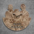 Iron Maiden Wood Wall Clock Retro Unique Art Gift