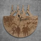 The Beatles Wood Wall Clock Retro Unique Art Gift
