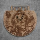 Tool Metal Band Wood Wall Clock Retro Unique Art Gift