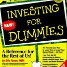 For Dummies: Investing for Dummies by Eric Tyson (1996, Paperback)