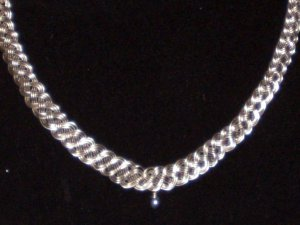 silver-plated hand woven necklace