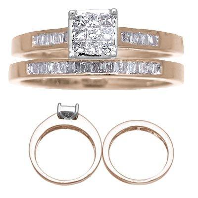 14 K Yellow Gold Diamond Wedding Set Reg $919