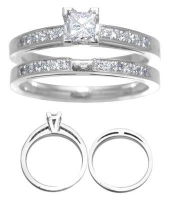 14 White Gold Diamond Wedding Set 1/2 Carat Reg $1379